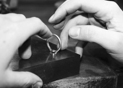 Leon Mege hand forged custom ring