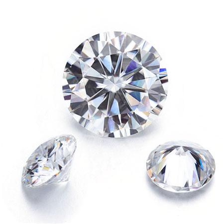 round shape moissanite loose stone diamond alternative