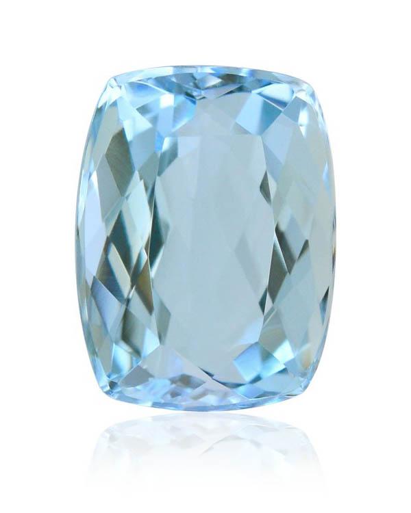 aquamarine cushion diamond alternative