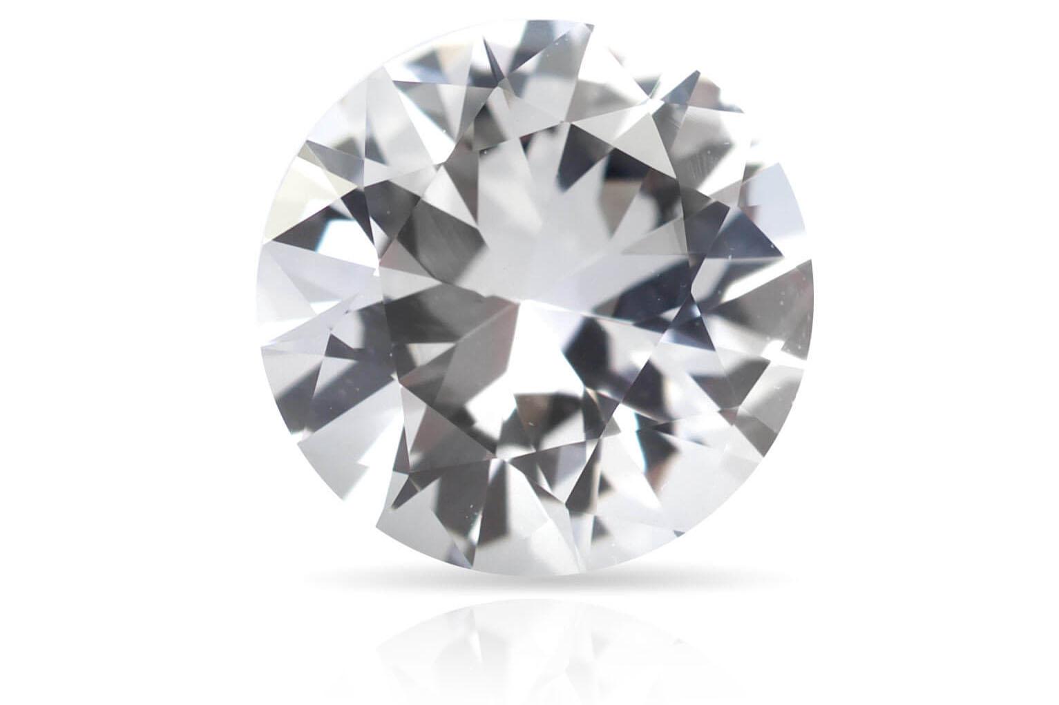 sapphire round white colorless diamond alternative