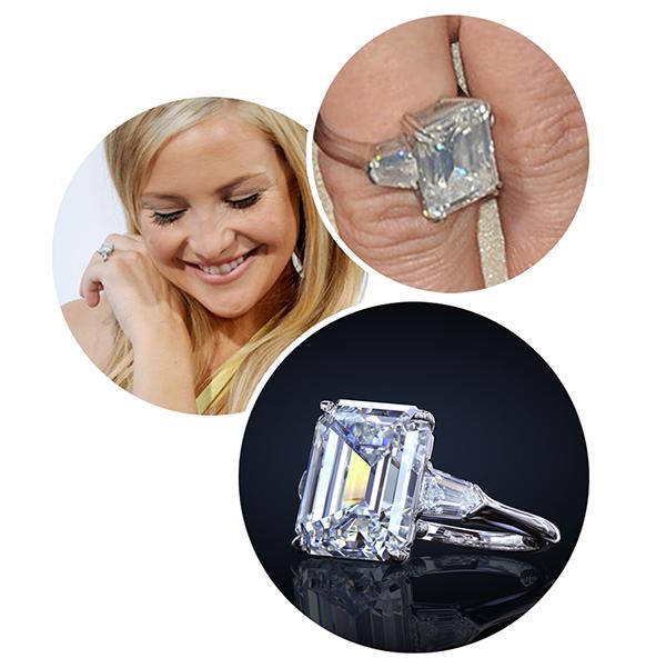 Kate Hudson leon mege engagement ring, diamond ring