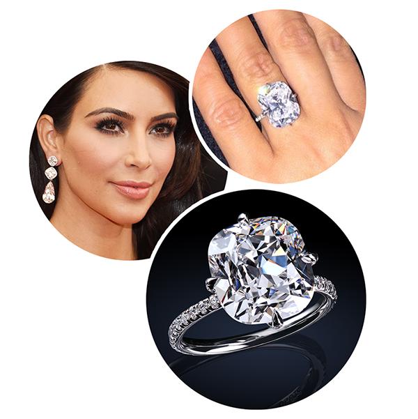 Kim Kardashian leon mege engagement ring, diamond ring