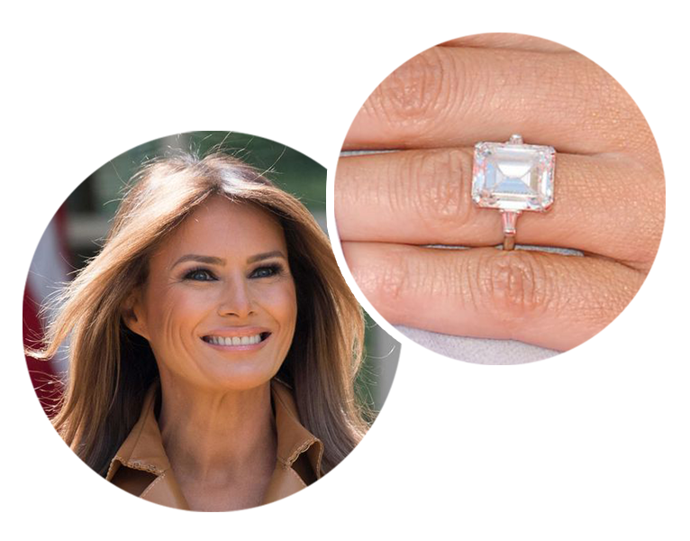 Melania Trump engagement ring leon mege
