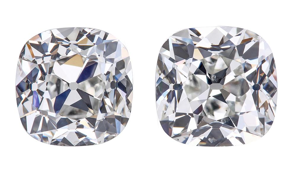 True antiqe diamond presented by leon mege, famous diamond, antique cushion diamond, legendary diamond