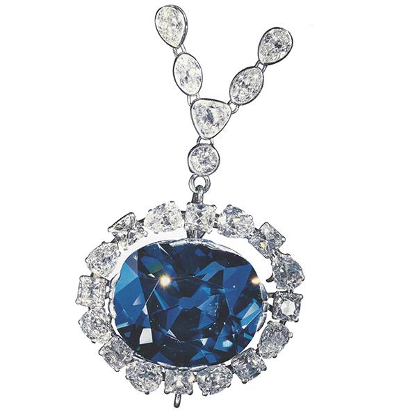 hope diamond by Leon Mege, famous diamond, antique cushion diamond legendary diamond