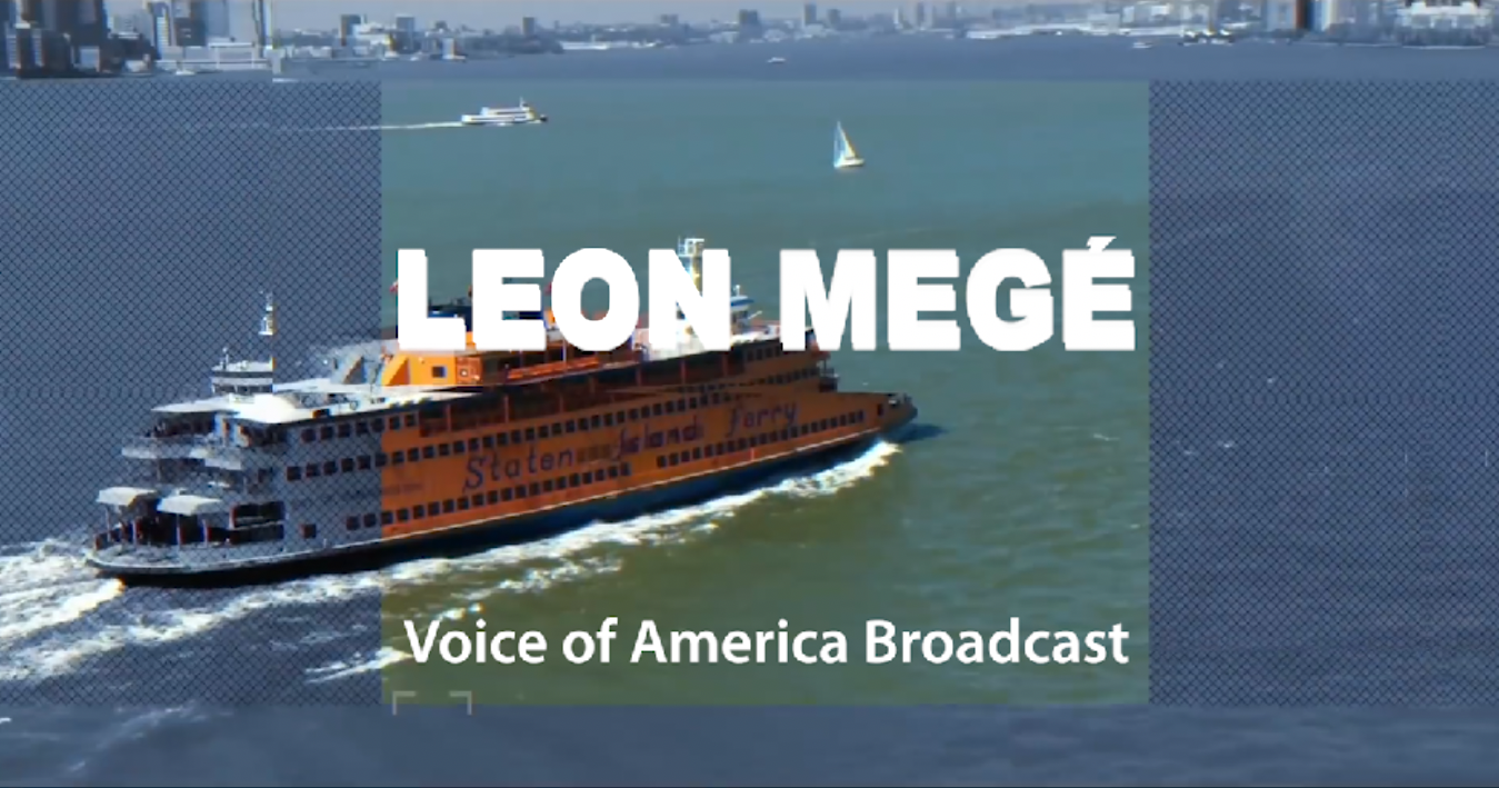 Leon Mege at Voice of America broadcast in Russian